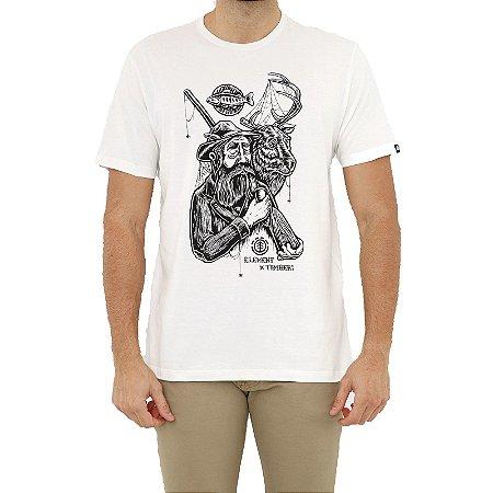 Camiseta Element Hunter Masculina Off White