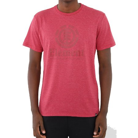 Camiseta Element Vertical Masculina Rosa Escuro
