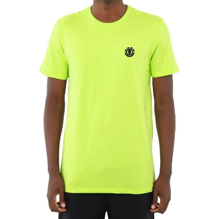 Camiseta Element Logo Basic Masculina Verde Neon
