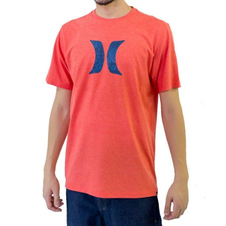 Camiseta Hurley Icon Ornamental Masculina Laranja