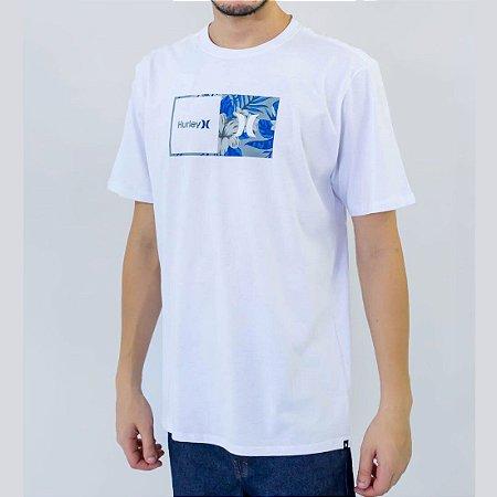 Camiseta Hurley Floral Masculina Branco