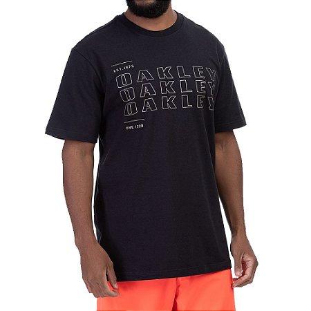 Camiseta Oakley Bark Cooled GRX Masculina Preto