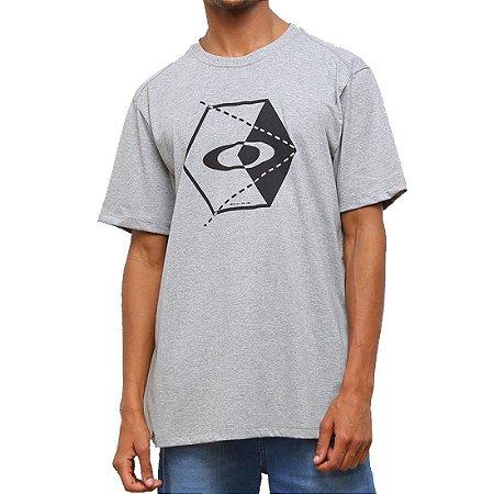 Camiseta Oakley Hex Masculina Cinza