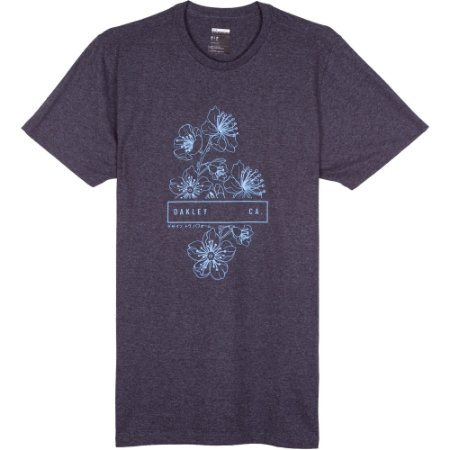 Camiseta Oakley Sakura Outline UV Masculina Preto