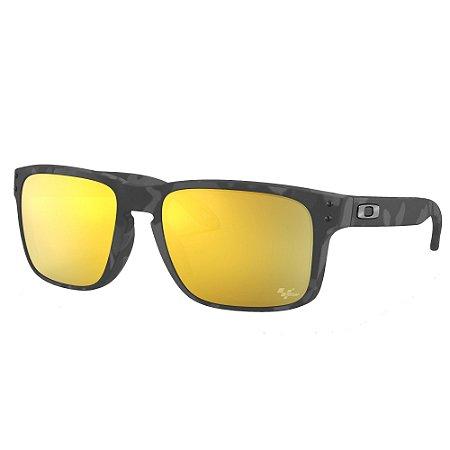 Óculos de Sol Oakley Holbrook MotoGP Collection Matte Black Tortoise W/ Prizm 24k Polarized