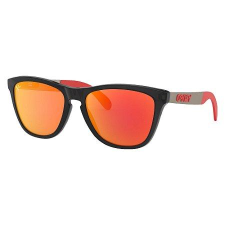 Óculos de Sol Oakley Frogskins Mix MotoGP Collection Matte Black Ink W/ Prizm Ruby