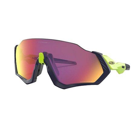 Óculos de Sol Oakley Flight Jacket Matte Navy W/ Prizm Road