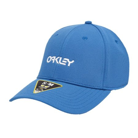 Boné Oakley 6 Panel Stretch Oakley Metallic Azul