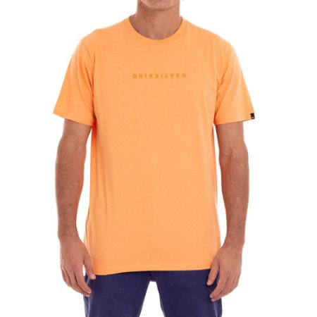 Camiseta Quiksilver Lettering Masculina Laranja
