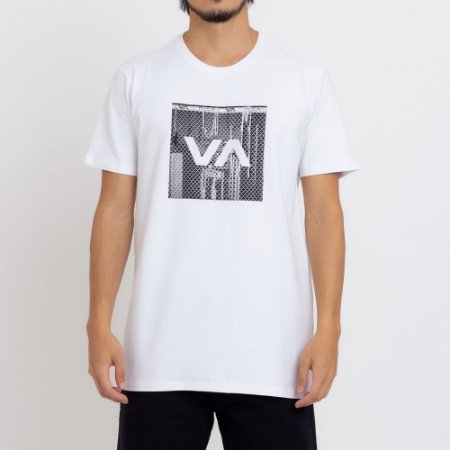 Camiseta RVCA VA Box Fill Masculina Branco