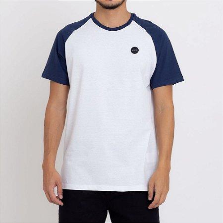 Camiseta RVCA Test Scan Masculina Branco/Azul Marinho