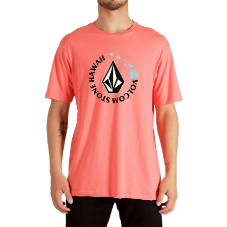 Camiseta Volcom Hi Series Masculina Vermelho