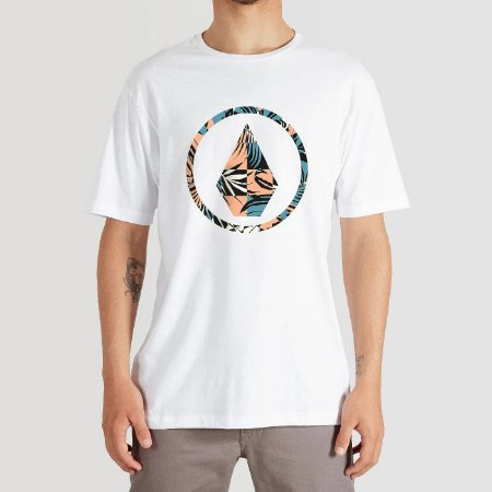 Camiseta Volcom Infillion Masculina Branco