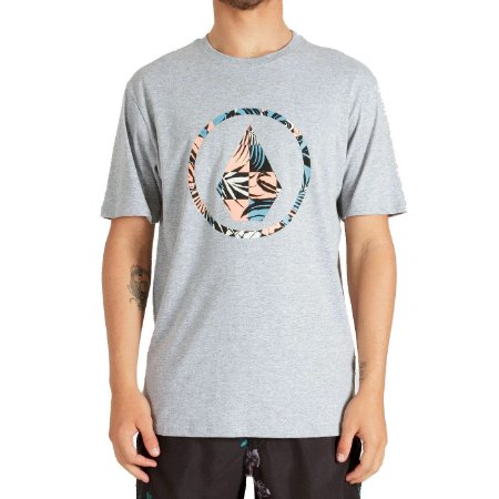 Camiseta Volcom Infillion Masculina Cinza Mescla