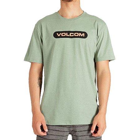 Camiseta Volcom New Euro Masculina Verde