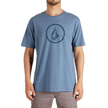 Camiseta Volcom Rampstone Masculina Azul Claro