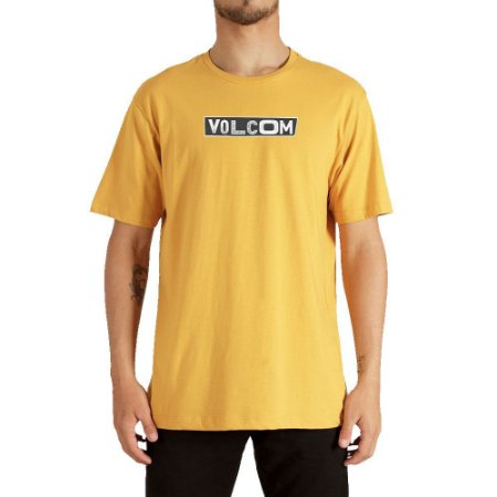 Camiseta Volcom Pist Shane Masculina Amarelo