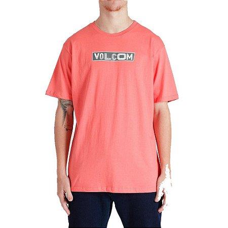 Camiseta Volcom Pist Shane Masculina Vermelho