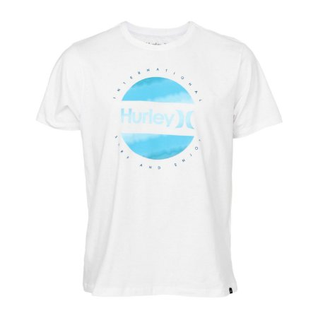 Camiseta Hurley Circle Dye Logo Masculina Branco