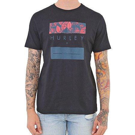 Camiseta Hurley Silk Flower Box Masculina Preto