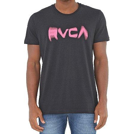 Camiseta RVCA Blurs Masculina Preto