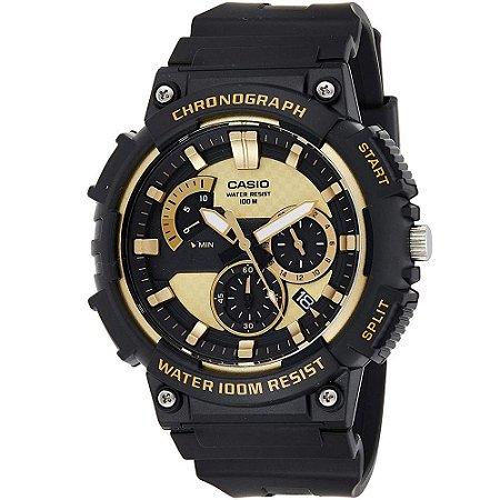 Relógio Casio Standard MCW-200H-9AVDF Preto/Dourado
