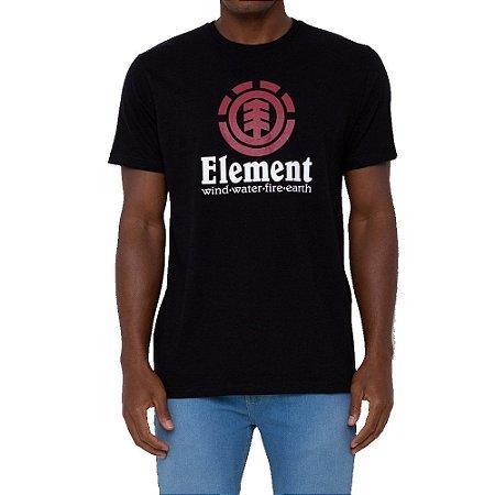 Camiseta Element Vertical Masculina Preto