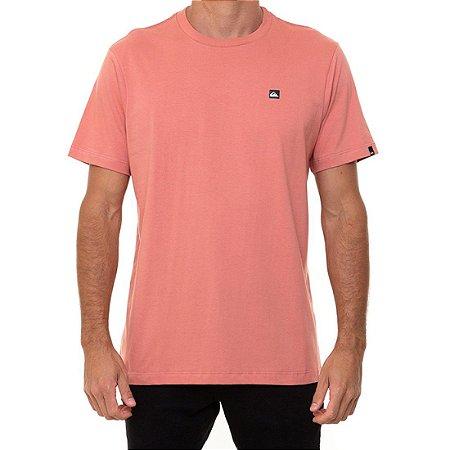Camiseta Quiksilver Transfer Masculina Rosa