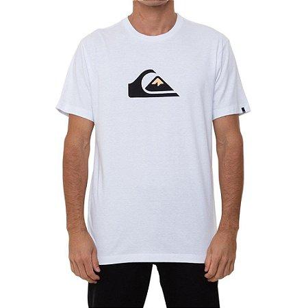 Camiseta Quiksilver Comp Logo Masculina Branco