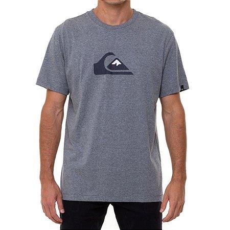 Camiseta Quiksilver Comp Logo Masculina Cinza Mescla