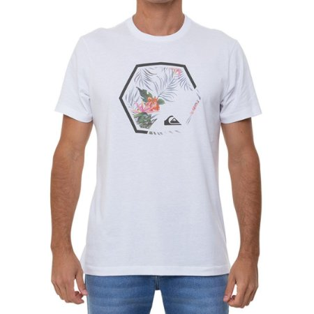 Camiseta Quiksilver Fading Out Masculina Branco