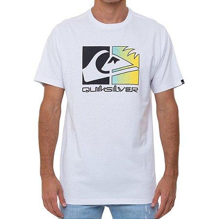 Camiseta Quiksilver Colour Trip Masculina Branco