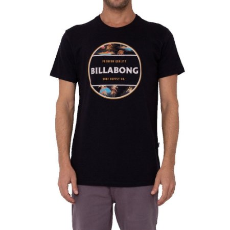 Camiseta Billabong Rotor Masculina Preto