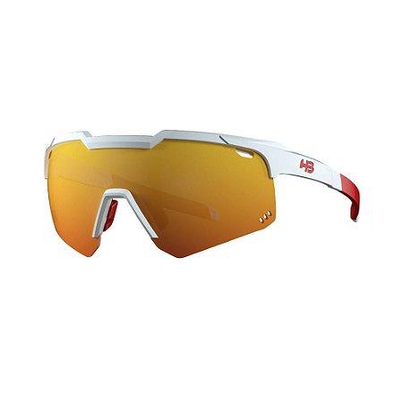 Óculos de Sol HB Shield Evo R Pear Led White | Multi Red