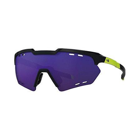 Óculos de Sol HB Shield Compact R G Black/N Yello | Multi Purple