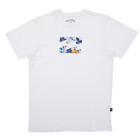Camiseta Billabong Team Wave II Masculina Off White