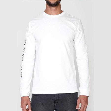 Camiseta Oakley Multi Bark Manga Longa Masculina Branco