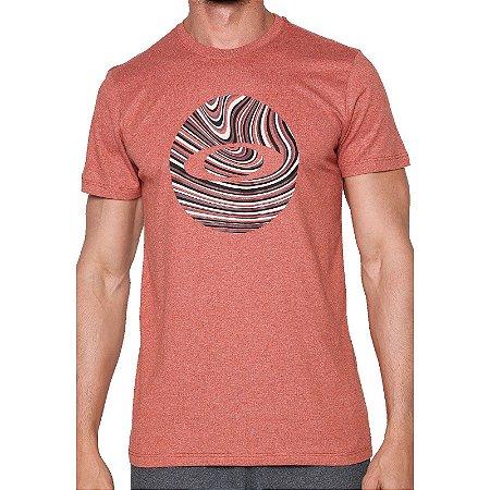Camiseta Oakley Marbled Circle Masculina Vermelho