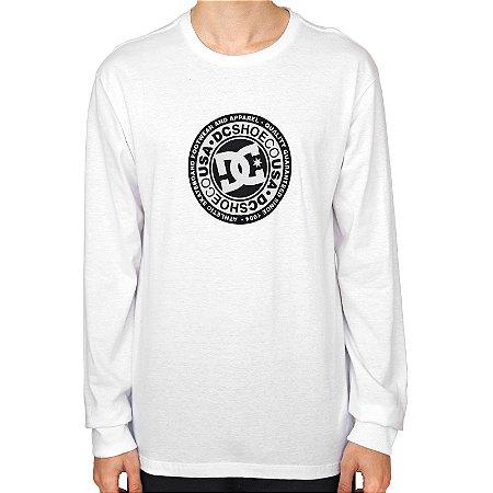 Camiseta DC Shoes Manga Longa Circle Star Masculina Branco
