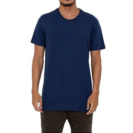 Camiseta RVCA Small Rvca Masculina Azul Marinho