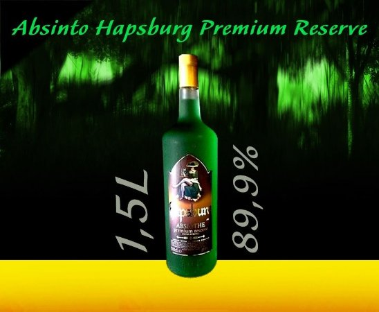 Absinto Hapsburg Premium Reserve 89,9% 1.5L Edição Limitada
