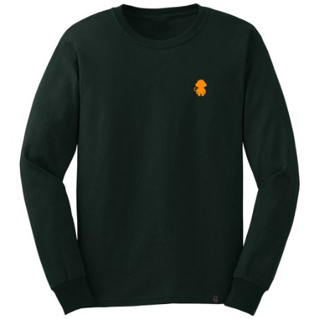 LONGSLEEVE MONKEY LOGO DARK GREEN