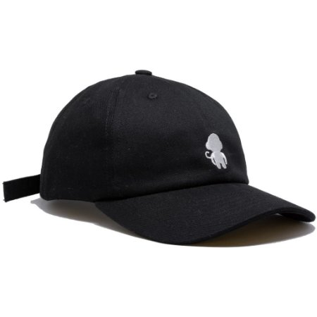 DAD HAT MONKEY LOGO BLACK