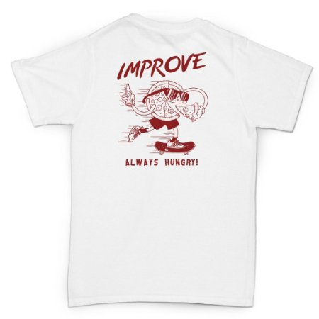 T-SHIRT ALWAYS HUNGRY WHITE