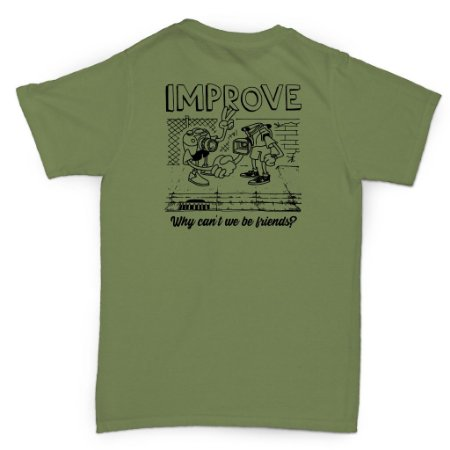 T-SHIRT FRIENDS MILITARY GREEN