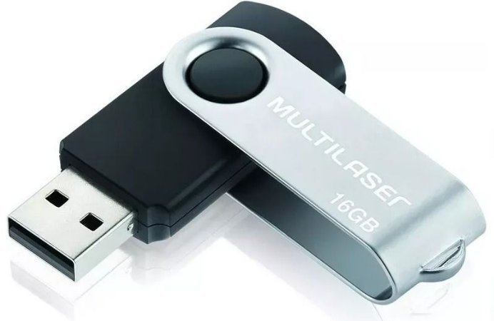 Pen Drive Twist 16GB Preto Multilaser PD588