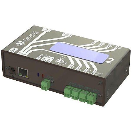 MA-2000-2 Módulo de Acionamento via rede 10/100 com 4 saídas, 4 entradas, 2 portas seriais e Display acoplado