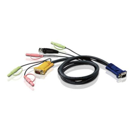 CABO P/SWITCH KVM SPHD - USB COM AUDIO 3,0 M - 2L-5303U - ATEN