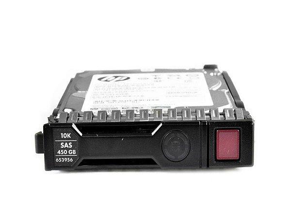 653956-001 - HD Servidor HP G8 G9 450GB 6GB 10K 2,5 SAS