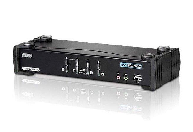 CS1784A Switch USB DVI Dual Link/Audio KVMP™ de 4 portas